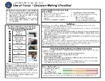Use of Force quick reference checklist